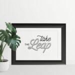 take the leap word art